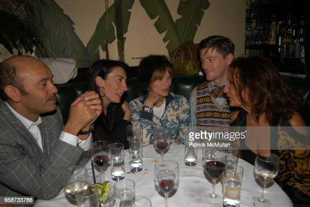 Christian Louboutin Anh Duong Anne McNally Peter McGough and Diane von Furstenberg attend Diane von Furstenberg After Party at Indochine on February...