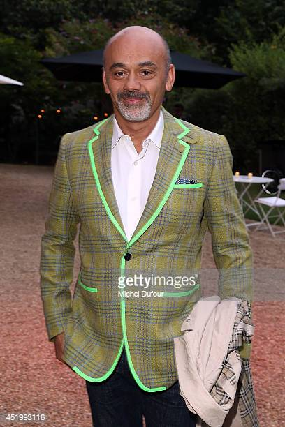 Christian Louboutin attends at 'Chambre Syndicale De La Haute Couture' Cocktail in Hotel Salomon de Rotschild in Paris on July 10 2014 in Paris France