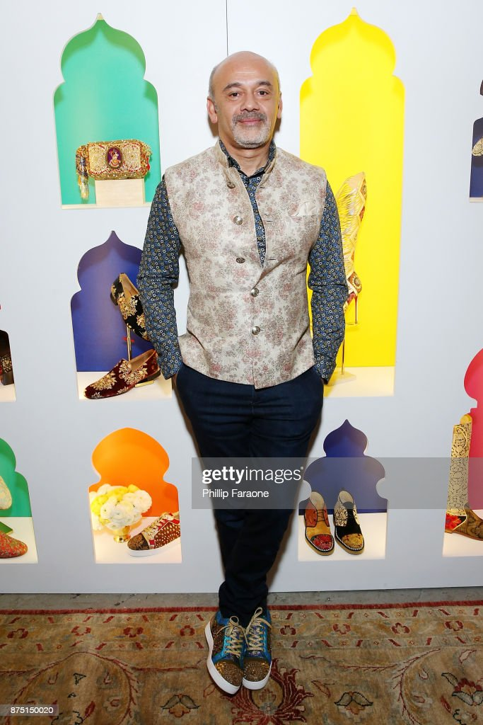 Christian Louboutin attends Christian Louboutin and Sabyasachi Unveil Capsule Collection at Just One Eye on November 16, 2017 in Los Angeles, California.