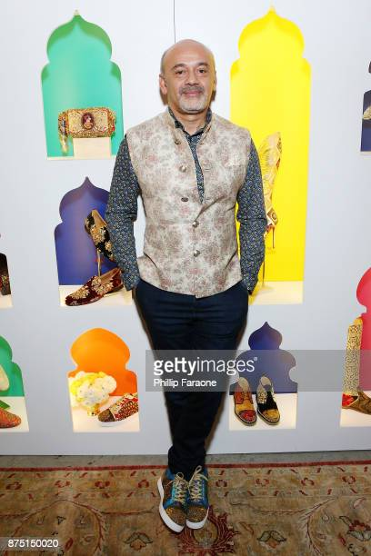 Christian Louboutin attends Christian Louboutin and Sabyasachi Unveil Capsule Collection at Just One Eye on November 16 2017 in Los Angeles California
