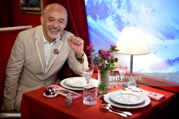 Christian Louboutin attends Loubhoutan Express presentation at La Garde Republicaine on July 02 2019 in Paris France