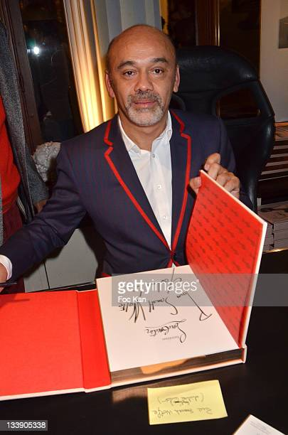 Christian Louboutin attends the Christian Louboutin 20th Anniversary Book Launch at Christian Louboutin - Galerie Vero-Dodat at November 21, 2011...