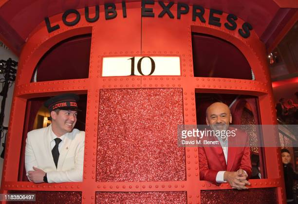 Christian Louboutin attends the launch of the Claridge's Christmas Tree 2019 designed by Christian Louboutin at Claridge's Hotel on November 21, 2019...