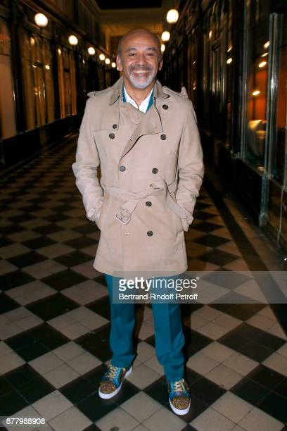 Christian Louboutin attends the Ligne Blanche Boutique Opening at Galerie VeroDodat on November 23 2017 in Paris France