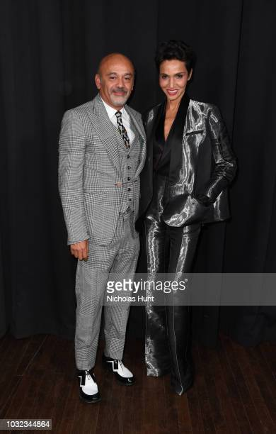 Christian Louboutin attends the Marc Jacobs Spring 2019 Runway during New York Fashion Week The Shows at Park Avenue Armory on September 12 2018 in...