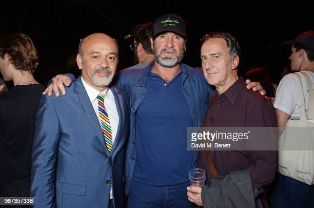 Christian Louboutin Eric Cantona and Angus Deayton attend the 'Hoping For Palestine' benefit concert for Palestinian refugee children at The...