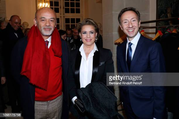 Christian Louboutin Grand Duchess Maria Theresa of Luxembourg and Founder Stephane Bern attend the 2018 Prize of the Stephane Bern Institut de France...