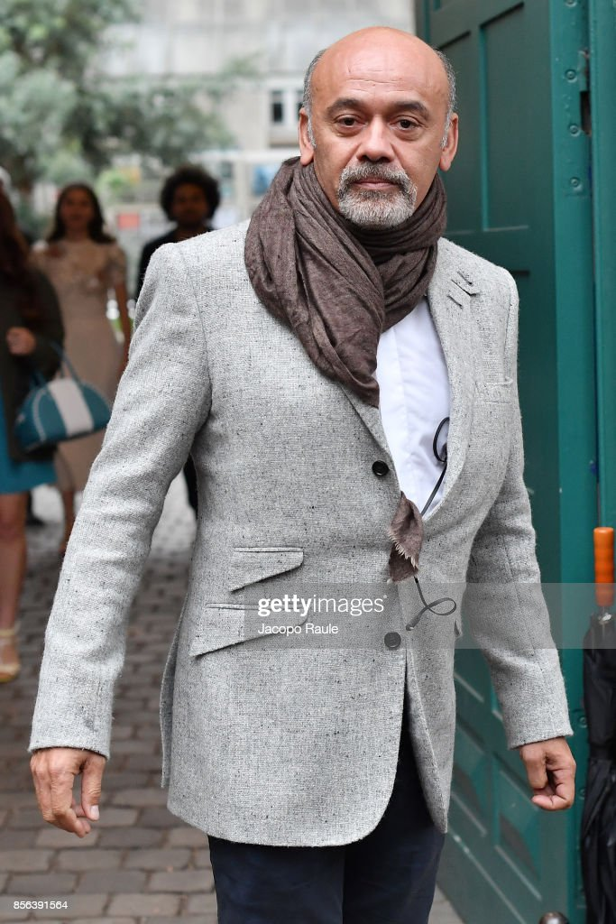 Christian Louboutin is seen arriving at Valentino show as part of the Paris Fashion Week Womenswear Spring/Summer 2018 on October 1, 2017 in Paris, France.