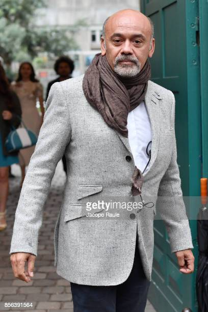 Christian Louboutin is seen arriving at Valentino show as part of the Paris Fashion Week Womenswear Spring/Summer 2018 on October 1 2017 in Paris...