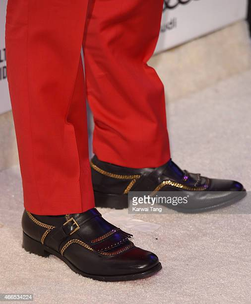 Christian Louboutin shoe detail attends the Elton John AIDS Foundation's 23rd annual Academy Awards Viewing Party at The City of West Hollywood Park...