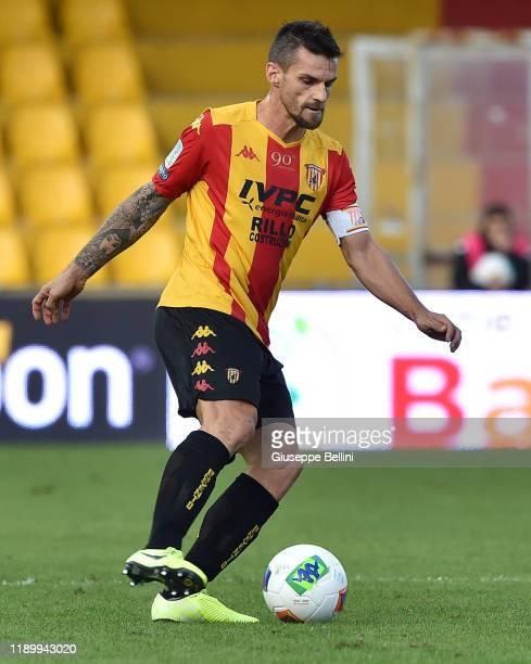 Christian Maggio of Benevento Calcio in action during the Serie B match between Benevento Calcio and Crotone FC at Stadio Ciro Vigorito on November...