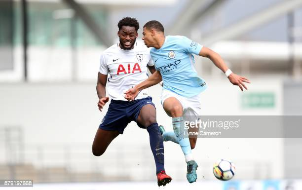 Christian Maghoma of Tottenham Hotspur during the Premier League 2 at The Academy Stadium on November 25 2017 in Manchester England