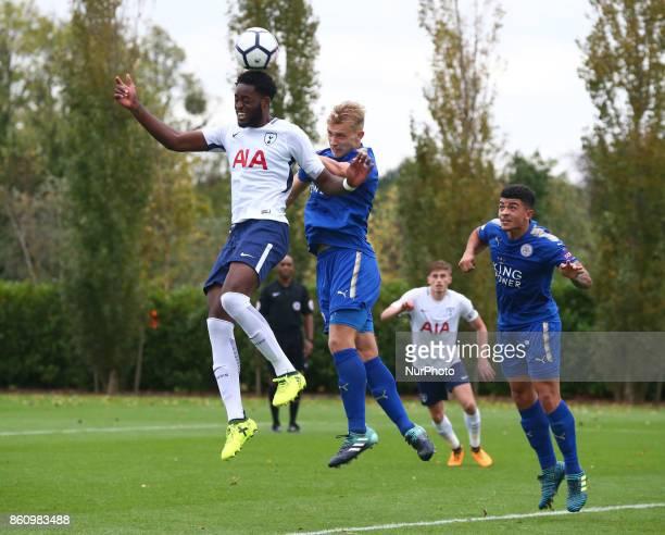 Christian Maghoma of Tottenham Hotspur Under 23s during Premier League 2 Div 1 match between Tottenham Hotspur Under 23s against Leicester City Under...