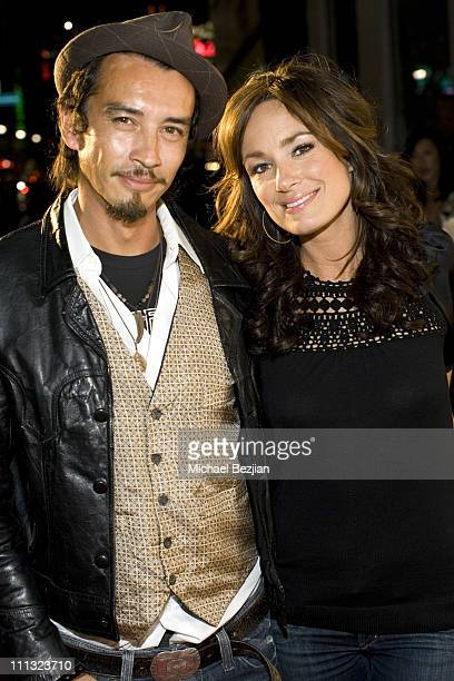 Christian Marc and Catt Sadler during Napoleon Perdis Unveils Summer Collection at Hollywood Inauguration at Napoleon Perdis Hollywood Flagship Store...