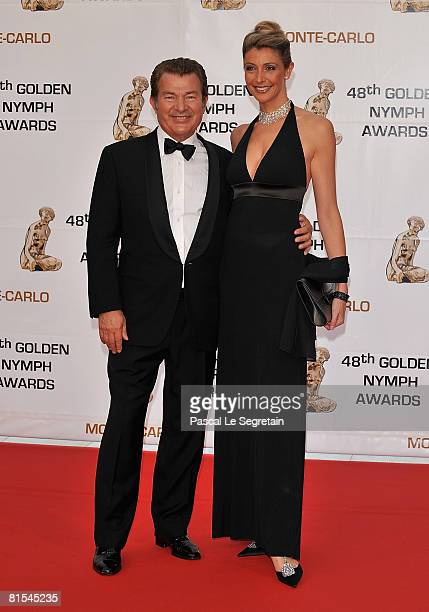 Christian Martin Lamotte and Karine Belly attend the Golden Nymph awards ceremony during the 2008 Monte Carlo Television Festival held at Grimaldi...