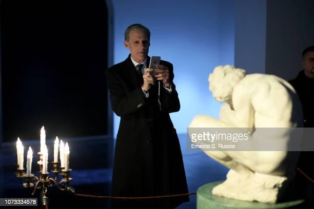 Christian Masset attends Fondazione Alda Fendi Esperimenti L'Adolescente by Michelangelo from The State Hermitage Museum on December 14 2018 in Rome...