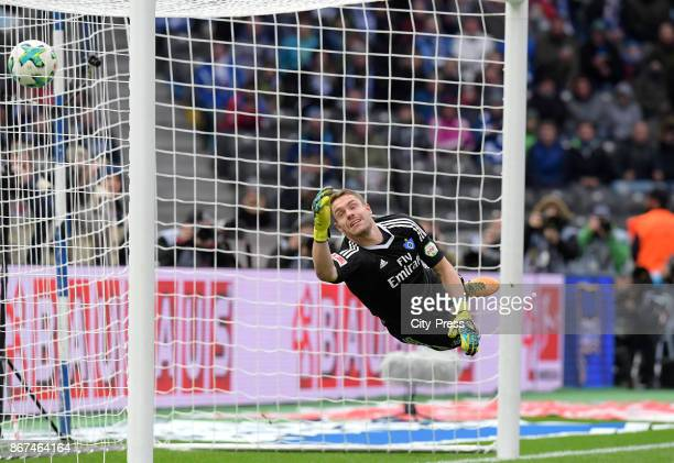Christian Mathenia of Hamburger SV during the game between Hertha BSC and Hamburger SV on October 28 2017 in Berlin Germany