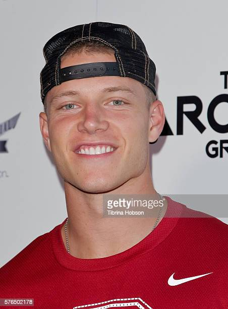 Christian McCaffrey attends the Matt Leinart Foundation's 10th annual Celebrity Bowl for Charity Event at Lucky Strike Lanes on July 14 2016 in...