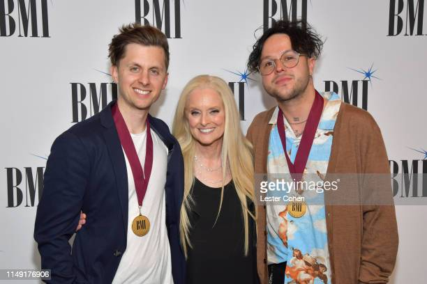 Christian Medice BMI Worldwide Creative VP Advisor to the Creative Licensing EVP Barbara Cane and Mitchy Collins attend the 67th Annual BMI Pop...