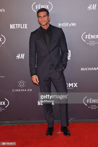 Christian Meier is seen arriving at red carpet of Fenix Film Awards on December 06 2017 in México City Mexico