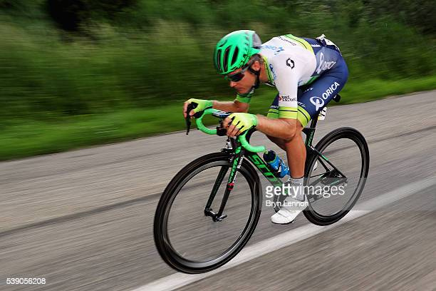 Christian Meier of Canada and Orica GreenEDGE in action during stage four of the 2016 Criterium du Dauphine from Criterium du Dauphine a 176km stage...