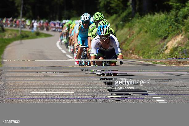 Christian Meier of Canada and Orica-Greenedge during the eleventh stage of the 2014 Tour de France, a 188km stage between Besancon and Oyonnax, on...