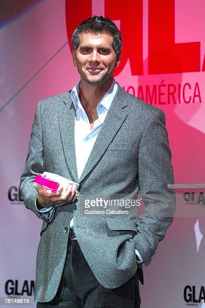 MIAMI NOVEMBER 28 Christian Meier receives an award at the Fourth Annual Glamour Beauty Awards at Set nightclub on November 28 2007 in Miami Florida