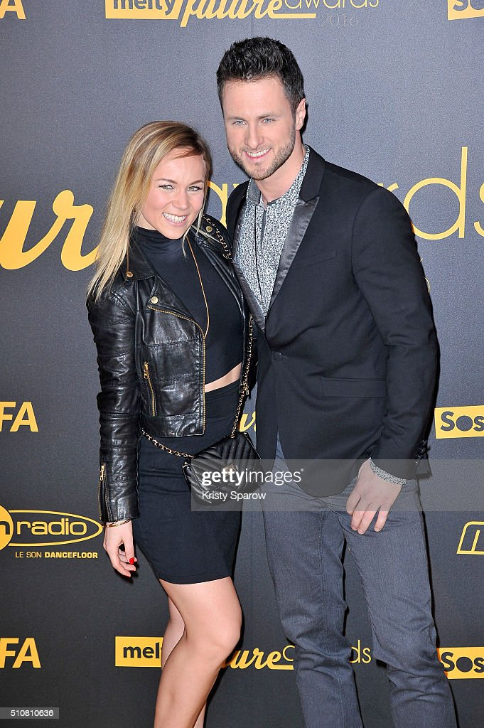 Christian Millette and Emmanuelle Berne attend The Melty Future Awards 2016 at Le Grand Rex on February 16, 2016 in Paris, France.