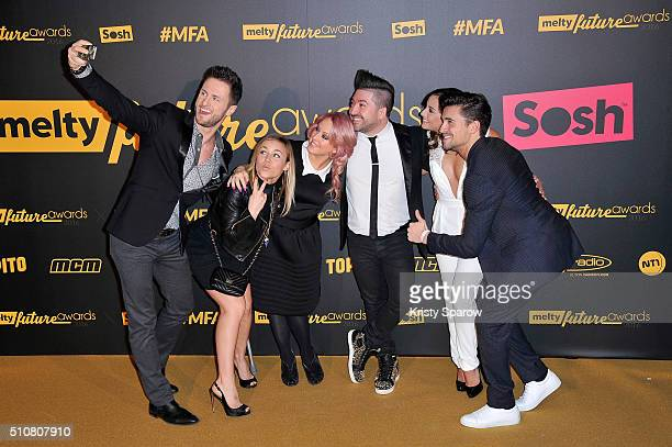 Christian Millette Emmanuelle Berne Jaclyn Spencer Chris Marques Priscilla Betti and Olivier Dion attend The Melty Future Awards 2016 at Le Grand Rex...