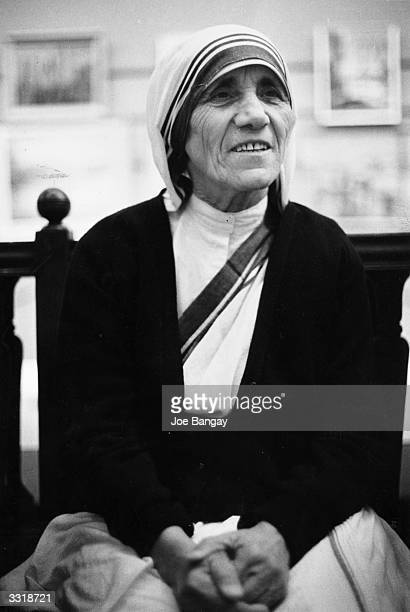 Christian missionary Mother Teresa of Calcutta in London She was awarded a Nobel Peace Prize in 1979 for her work with the poor of Calcutta