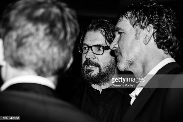 Christian Moestl and Andreas Niemeier attend the 40th birthday party of Franziska Knuppe on December 06 2014 in Berlin Germany