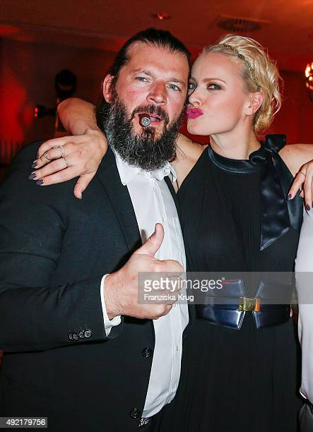 Christian Moestl and Franziska Knuppe attend the TULIP Gala 2015 on October 10 2015 in Berlin Germany