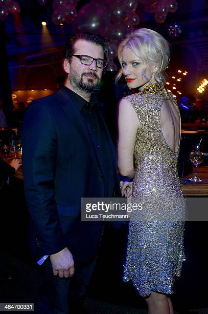 Christian Moestl and Franziska Knuppe attends the Mira Award 2014 at Station on January 23 2014 in Berlin Germany