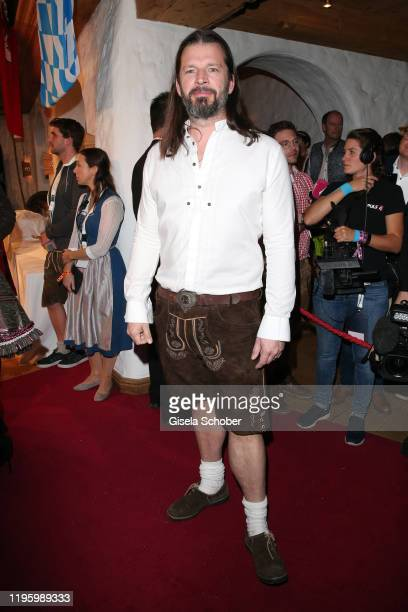 Christian Moestl during the 29th Weisswurstparty at Hotel Stanglwirt on January 24, 2020 in Going near Kitzbuehel, Austria.
