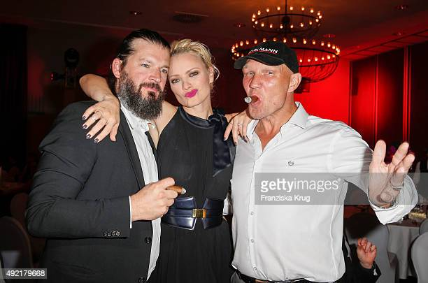 Christian Moestl, Franziska Knuppe and Axel Schulz attend the TULIP Gala 2015 on October 10, 2015 in Berlin, Germany.
