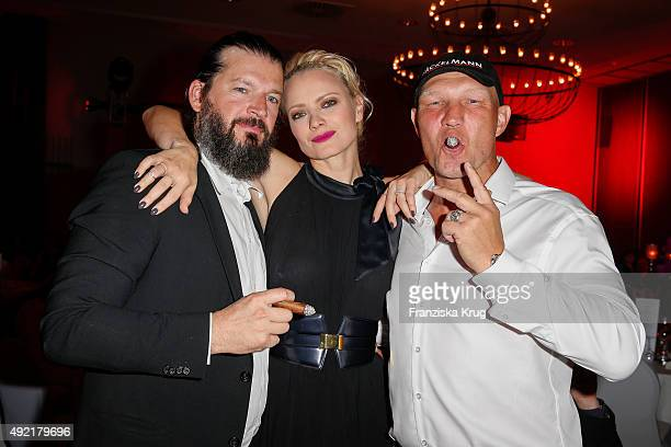 Christian Moestl Franziska Knuppe and Axel Schulz attend the TULIP Gala 2015 on October 10 2015 in Berlin Germany