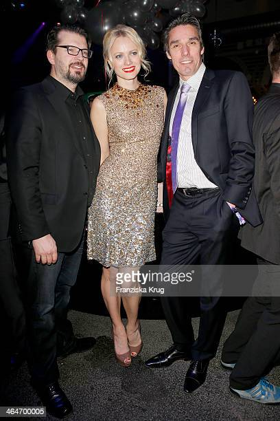 Christian Moestl Franziska Knuppe and Michael Stich attend the Mira Award 2014 on January 23 2014 in Berlin Germany