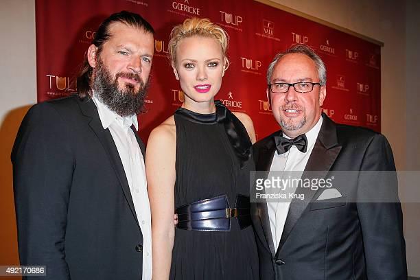 Christian Moestl Franziska Knuppe and Stephan Goericke attend the TULIP Gala 2015 on October 10 2015 in Berlin Germany