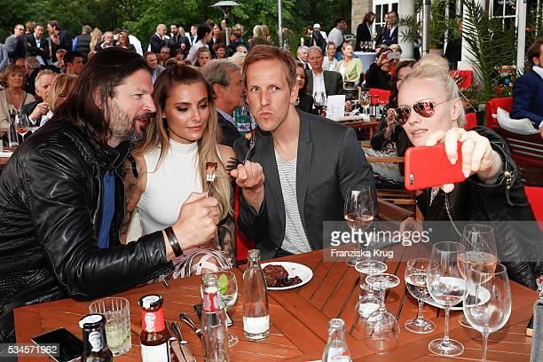 Christian Moestl, Sophia Thomalla, Jan Hahn and Franziska Knuppe during the 'Ein Herz fuer Kinder' summer party at Wannseeterrassen on May 26, 2016...