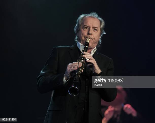 Christian Morin performs on stage during a concert at L'Alhambra Paris on April 7 2013 in Paris France