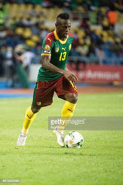 Christian Mougang Bassogog attacking during second half at African Cup of Nations 2017 between Burkina Faso and Cameroon at Stade de lAmitié Sino...