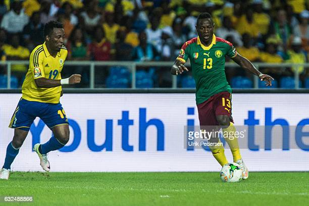 Christian Mougang Bassogog of Cameroon during the African Nations Cup match between Cameroon and Gabon at Stade de L'Amitie on January 22, 2017 in...