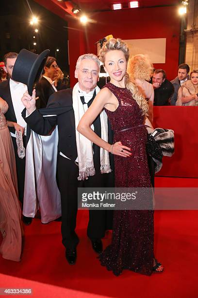 Christian Mucha and his wife Ekaterina attend the traditional Opera Ball Vienna at State Opera Vienna on February 12 2015 in Vienna Austria