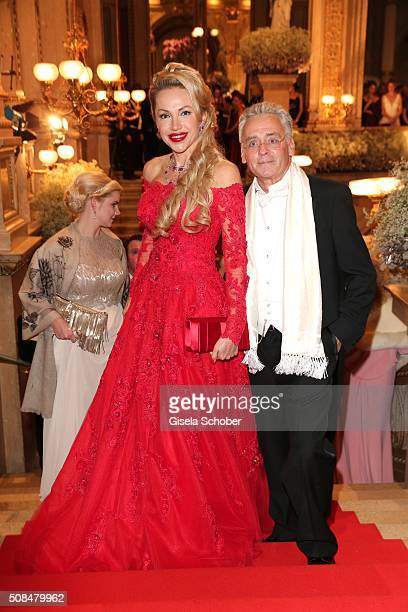 Christian Mucha and his wife Ekaterina Mucha during the Opera Ball Vienna 2016 at Vienna State Opera on February 4 2016 in Vienna Austria