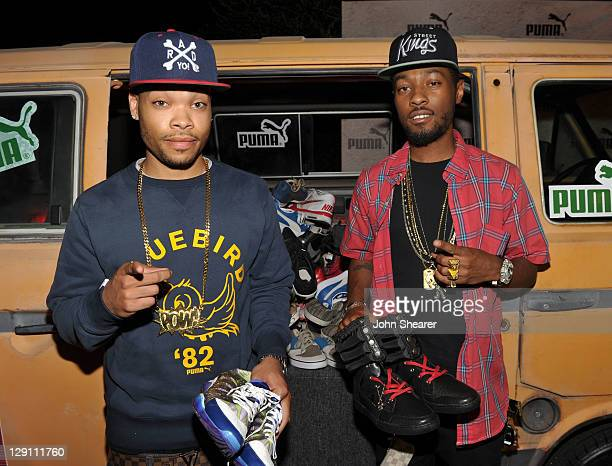 Christian Murphy and Eric Murphy attend Puma presents Riddim Run benefiting Souls 4 Souls held at Siren Studios on October 12 2011 in Hollywood...