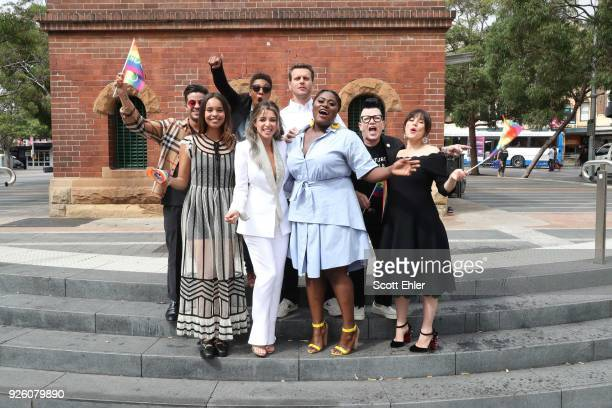 Christian Navarro Alisha Boe Samira Wiley Dannii Minogue Jonathan Groff Danielle Brooks Lea Delaria and Yael Stone in Taylor Square on March 2 2018...