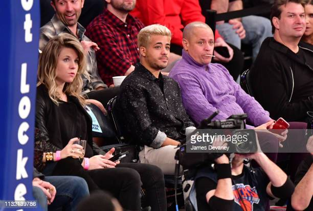 Christian Navarro attends Denver Nuggets v New York Knicks game at Madison Square Garden on March 22 2019 in New York City