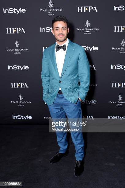 Christian Navarro attends The Hollywood Foreign Press Association and InStyle Party during 2018 Toronto International Film Festival at Four Seasons...