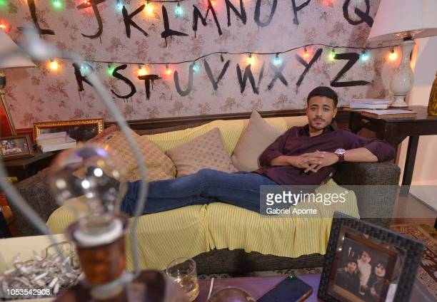 Christian Navarro poses during Casa Netflix Cocktail Party at Galeria Cero on October 9 2018 in Bogota Colombia