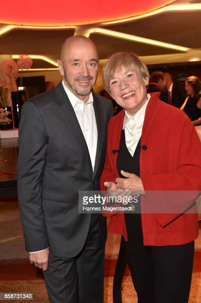 Christian Neureuther and his wife Rosi Mittermaier during the Felix Friends Charity Gala at Hotel Vier Jahreszeiten on October 7 2017 in Munich...